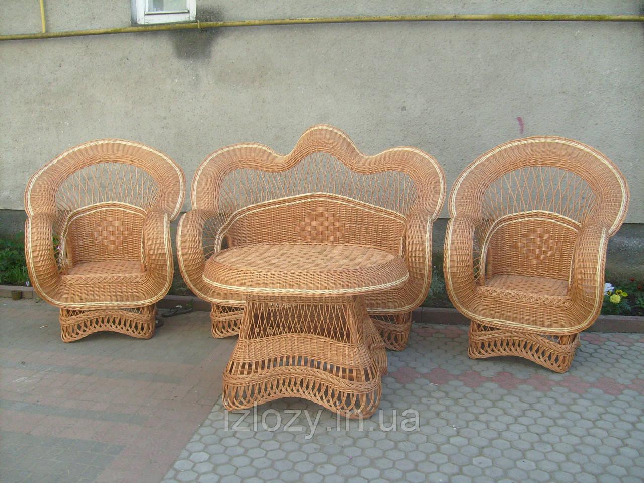 """Набор плетенной мебели для сада """"Королевский"""", фото 1"""