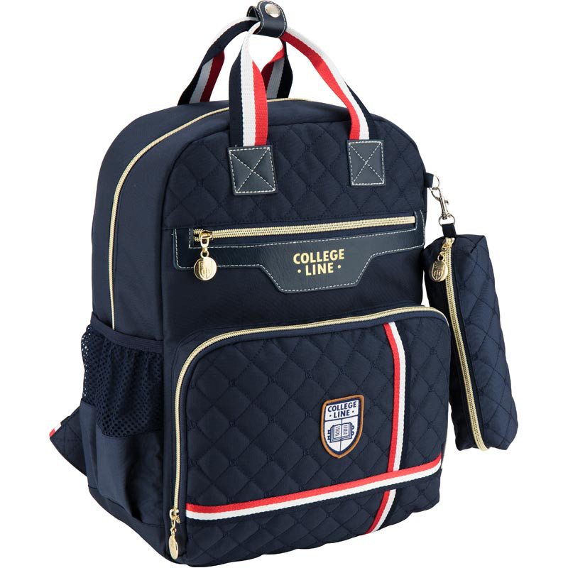 Школьный рюкзак College Line с пеналом в подарок. Дышащая спинка, умный органайзер. Доставка бесплатно.