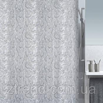 Шторка для ванной текстильная Spirella SNAKE серая