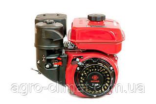 Двигатель Weima WM170F-3 New (1800об/мин, шпонка) + редуктор шестеренчатый, бензин 7.0 л.с.