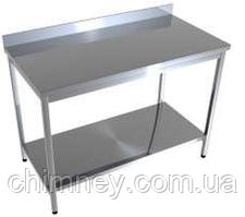 Стол производственный с нижней полкой CHIMNEYBUD, 600x500x850 мм. (оцинкованная сталь/430)