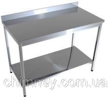Стол производственный с нижней полкой CHIMNEYBUD, 800x500x850 мм. (оцинкованная сталь/430)