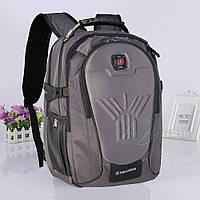 Вместительный рюкзак с отделением для ноутбука 8875, серый