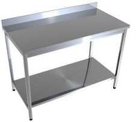 Стол производственный с нижней полкой CHIMNEYBUD, 1800x500x850 мм. (нержавеющая сталь/430), фото 1