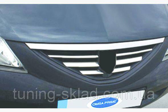 Хром накладки на решетку Dacia Logan MCV I (Дачия Логан МСВ 1)