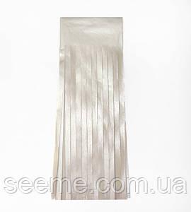Бумажная гирлянда-кисточка из тишью «Серебро», набор из 5 шт.