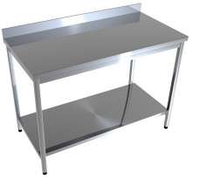 Стол производственный с нижней полкой CHIMNEYBUD, 1200x600x850 мм. (нержавеющая сталь/304), фото 1