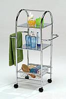 Этажерка для ванной передвижная 3 ярусная Onder metal.
