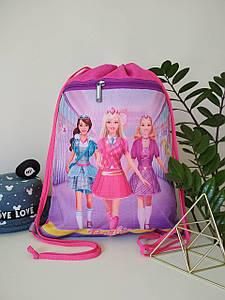 Рюкзак для сменной обуви с принтом Барби для девочки 42*32 см