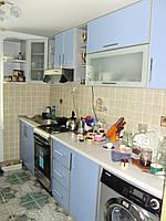 Голубая кухня в  профиле, фото 1