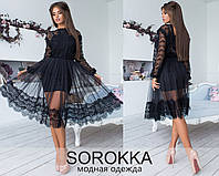 Платье двойка нарядное черное 25247, фото 1
