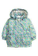 """Ветровка детская на подкладке для девочки H&M """"Соцветие"""" куртка весенняя для девочки, размер 80 см"""