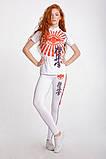 Женские лосины Berserk KYOKUSHIN white для бега, йоги, фитнеса , фото 3