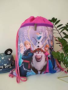 Рюкзак для сменной обуви с принтом Frozen для девочки 42*32 см