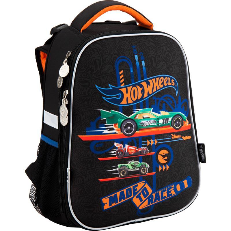 Школьный каркасный рюкзак Hot Wheel. Дышащая спинка, умный органайзер. Доставка бесплатно.