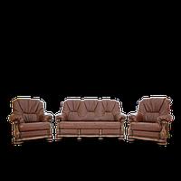 Комплект мягкой кожаной мебели  Brussel
