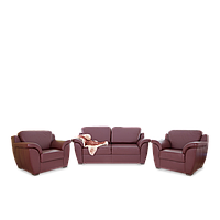 Комплект кожаной мягкой мебели Барбадос