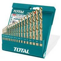 Акс.инстр TOTAL TACSD0195 Набор сверл по металлу, 19шт, d=1-10мм.