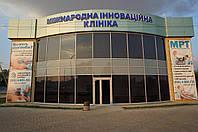 Стеклянные фасады зданий из алюминиевой стоечно-ригельной системы Текно Фасад 50