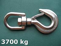 Нержавеющий крюк такелажный с вертлюгом, 193 мм