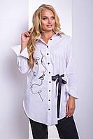 Рубашка большого размера Камерон, (2цв), рубашка женская для полных, длинная рубашка для полных, дропшиппинг, фото 1