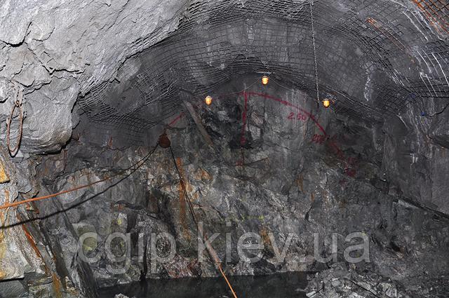 Укрепление проходки шахты