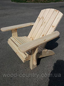 Шезлонг деревянный из сосны не крашенный