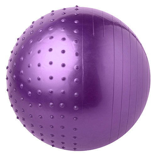 М'яч для фітнесу 65 см комбі (1000гр) фіолетовий