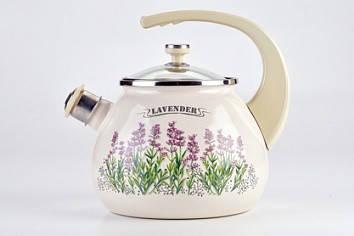 Чайник емальований EPOS, Новомосковск, L92711 2,50л з кришкою Гіацинт тм.LAUREL