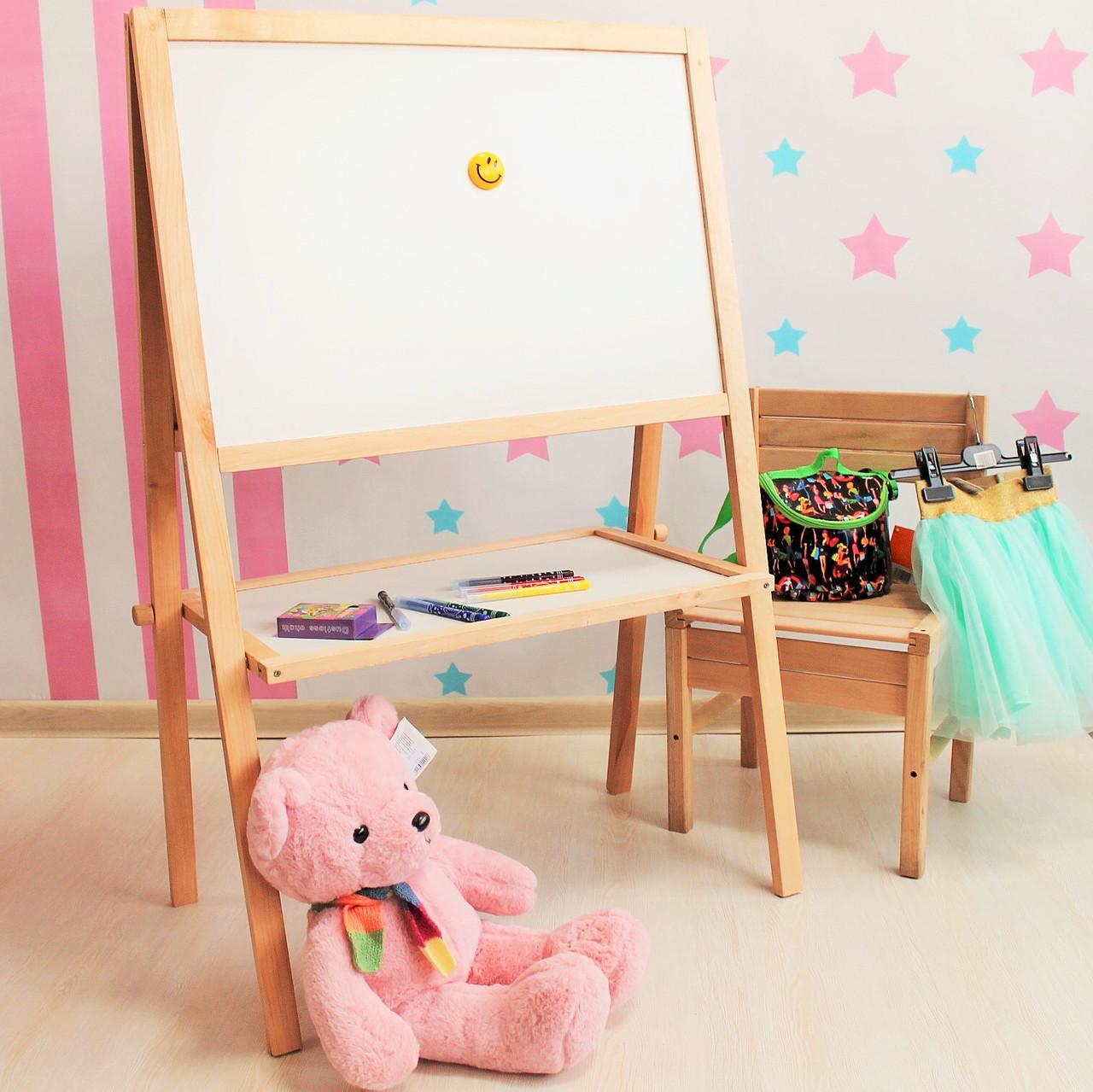 Мольберт дошка для малювання крейдою для дітей
