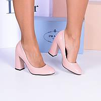 7ca605a53cf3 510UAH. 510 грн. В наличии. Женские бежевые лакированные классические туфли  на устойчивом каблуке. Интернет-магазин