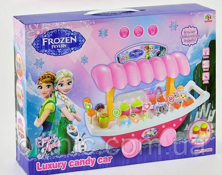 Игровой набор Магазин сладостей Хеллоу Китти, Фроузен для детей 2 вида, музыкальный, на батарейке, в коробке, фото 2