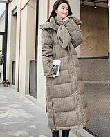 Зимний женский длинный пуховик. Модель 1961., фото 3