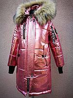 Пальто зимнее для девочки. Новинка 2018-2019