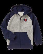 Худи-пуловер на молнии для мальчика хлопок&флис Gymboree (США)