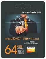 Картка пам'яті MicroSDHC 64Gb Microflash Class 10 UHS-I, фото 1