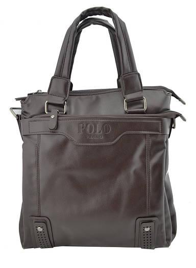 Мужская сумка Polo Videng Vicuna Big с ручками темно-коричневая