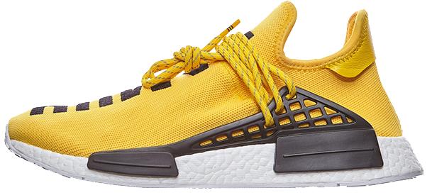 Мужскиекроссовки adidas Pharrell Williams NMD Human Race Yellow (Адидас Фарель) желты