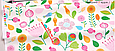 Сатин (хлопковая ткань) цветные розовые бутоны, фото 2