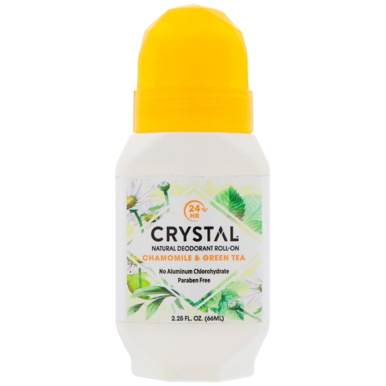Натуральний Дезодорант кульковий, ромашка & зелений чай (66 мл), Crystal Body Deodorant