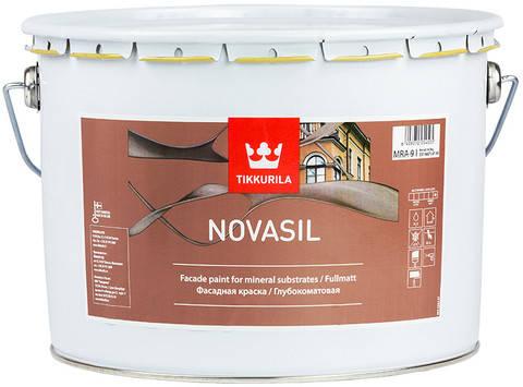 Фасадная силиконмодифицированная краска Novasil, Тиккурила (Tikkurila), MRА, 9л, фото 2