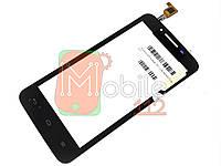 Тачскрин (сенсор) для Huawei Y511-U30 Ascend Dual Sim, чёрный
