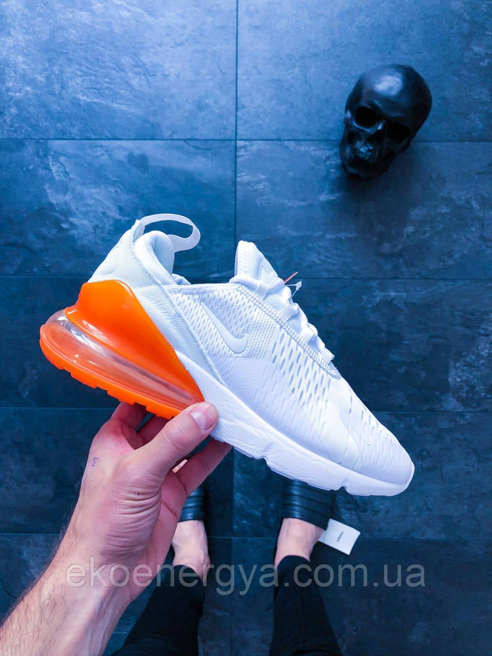 7e046505 Кроссовки в стиле Nike Air Max 270 (White / White - Total Orange ...