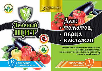 """Инсекто-фунгицид """"Зеленый щит"""" Томат,перец,баклажан 3 мл+10г Агромакси (лучшая цена купить оптом и в розницу)"""