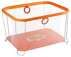 Манеж Qvatro Солнышко-02 мелкая сетка оранжевый Winnie Pooh