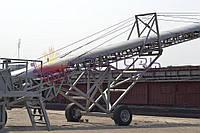 Зернопогрузочная машина конвейерного типа СПМ - 1, бережная загрузка барж, суден с причала