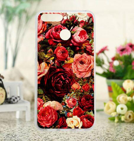 Силіконовий чохол бампер для Huawei Y7 Prime 2018 / honor 7C Pro з картинкою Троянди