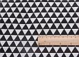 Сатин (хлопковая ткань) черные треугольники, фото 2