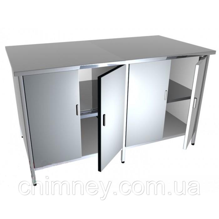 Стіл-тумба з 2 полицями CHIMNEYBUD, 1600x600x850 мм (нержавіюча сталь/304)