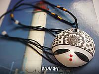 Подвеска модный кулон ожерелье женское праздничное подарок на восьмое марта из керамики ручная работа